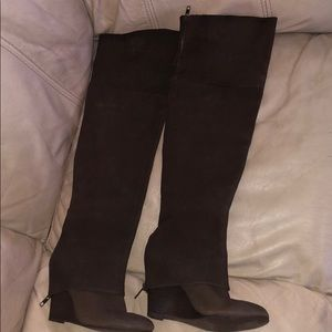 Ash over the knee wedge boots
